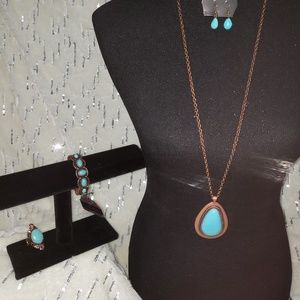 NWT 💥 Beautiful Turquoise and Copper set